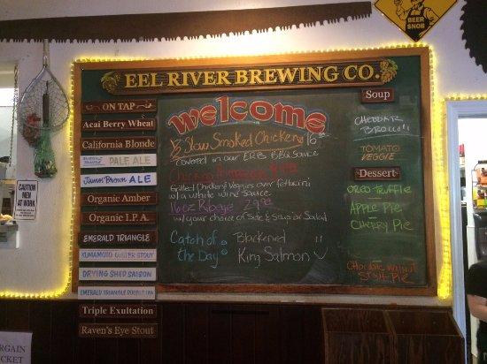 Fortuna, Kalifornien: Beer menu