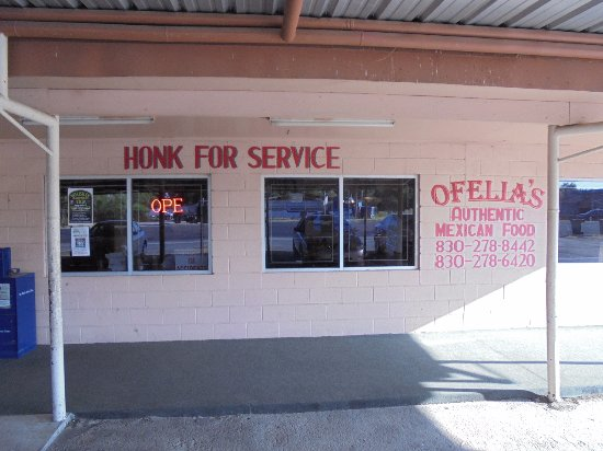 Uvalde, TX: It looks like you can get curb side service by just honking!