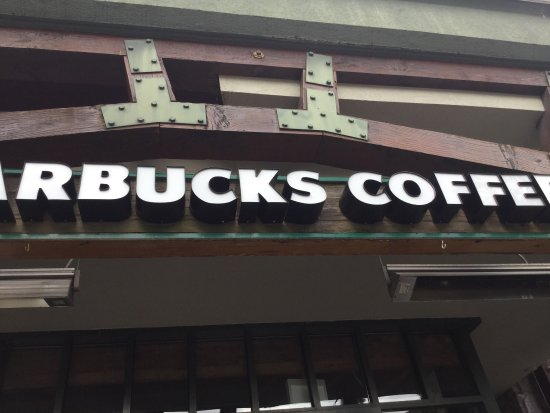 Starbucks: Handy place to relax with a coffee, after strolling the village square