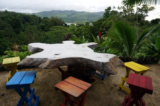 Nuevo Arenal, Costa Rica: View from the bar area
