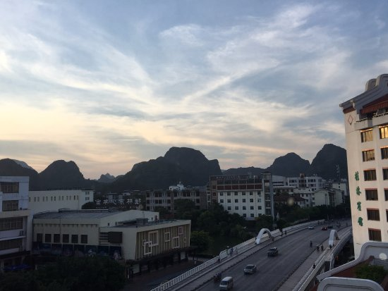 Guilin Bravo Hotel: June 2016 - view from room