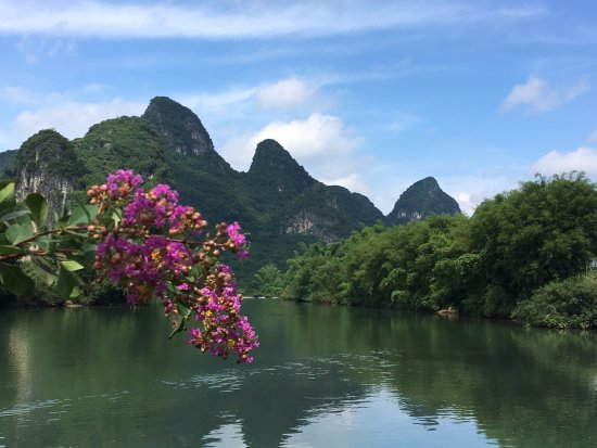 Yangshuo Mountain Retreat: June 2016 - view of river and mountains from hotel grounds