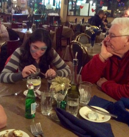 Garnerville, NY: Dinner at Carsar's with our granddaughter after the circus.