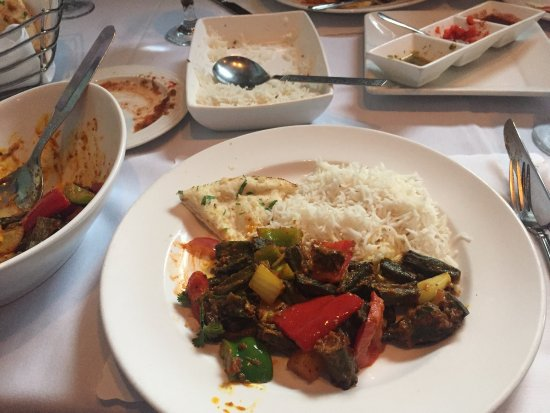 Milan Indian Cuisine: Okra main course