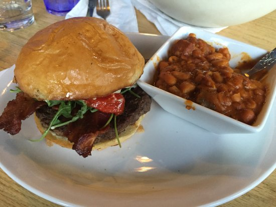 River's Edge: Local grass-fed beef burger