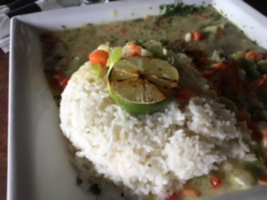 Sechelt, Canadá: Vegetarian Curry (ordered with no fish)
