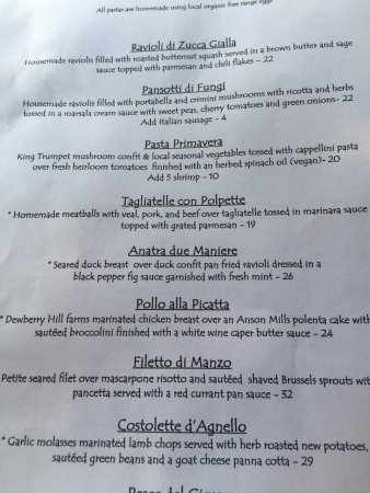 Botticelli Restaurant Menu
