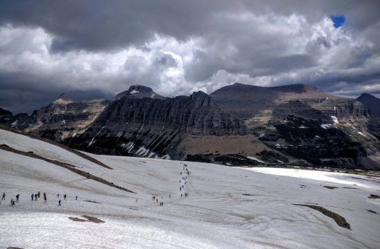 Hidden lake overlook and Clements mountain at Logan pass
