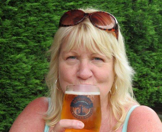 Brookland, UK: me enjoying the cider!