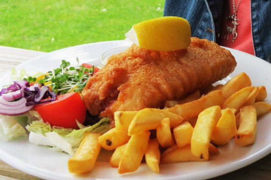 Brookland, UK: fish and chips