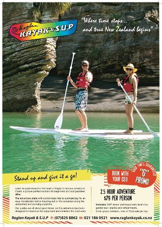 Raglan, Nieuw-Zeeland: New Paddleboard tour ..