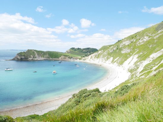Applegrove: Balcony room view. Lulworth Cove on a sunny day