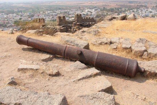 Bhongir Fort: Panoramica a mezzavia.