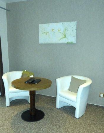 Hotel Aquarius: Wohnbereich kleines Appartement