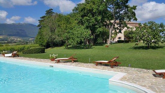 Villa Collepere: La casa vista dalla piscina