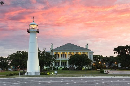 Early Morning sunrise at the #Biloxi lighthouse.