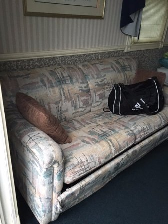 LaPorte, IN: Couch has seen better days, as well as everything in the cabin.