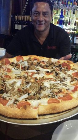 So SO good .tues 1/2 PRICE PIZZA WITH ROGER THE BEST BARTENDER