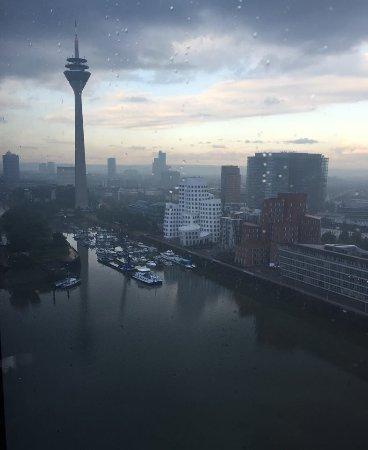 Hyatt Regency Dusseldorf: view from the regency lounge...amazing!