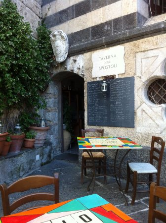 The restaurant is nestled right underneath the Amalfi Duomo.