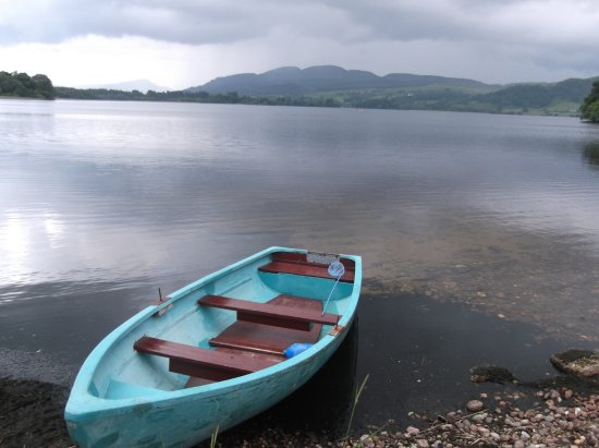 Port of Menteith, UK: Rowing boat for use of residents
