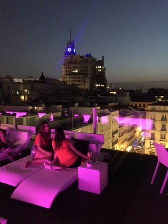 Noche Y Vistas Picture Of La Terraza De Oscar Madrid