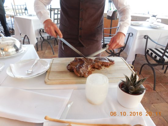 Palo Laziale, อิตาลี: Steak for 2 on the Patio