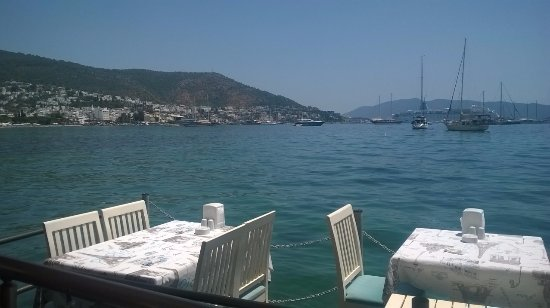 Blanca Restaurant: From the bar, 2 tables over the water