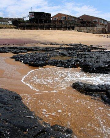 Umkomaas, Sudáfrica: le centre vu de la plage