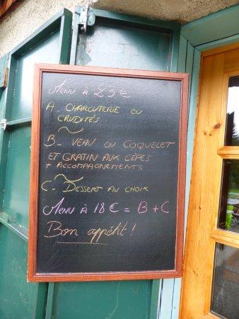 Thorens-Glieres, Γαλλία: Menu for Restaurant Gautard