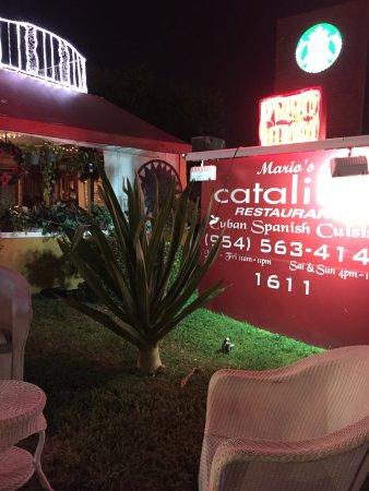 Mario S Catalina Restaurant Best Cuban Cuisine In Broward County The Owner Is