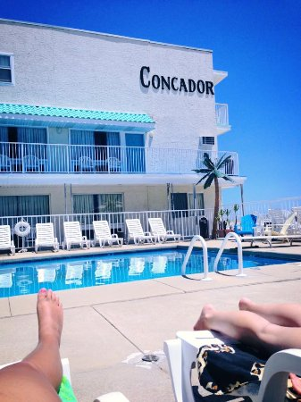 Conca D'or Motel: Great pool area to relax after a day at the beach