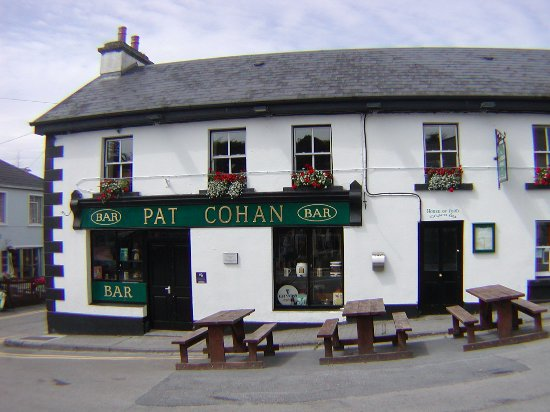 Pat Cohan's Bar: You can just see the characters of the movie walking to the pub.