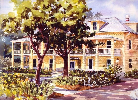 Fort Lauderdale Historical Society & Museum: History Museum Watercolor