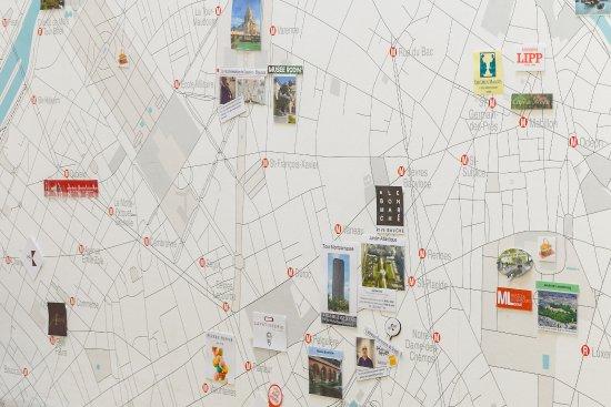 Karte Paris.My Karte Picture Of Hotel Korner Eiffel Paris Tripadvisor