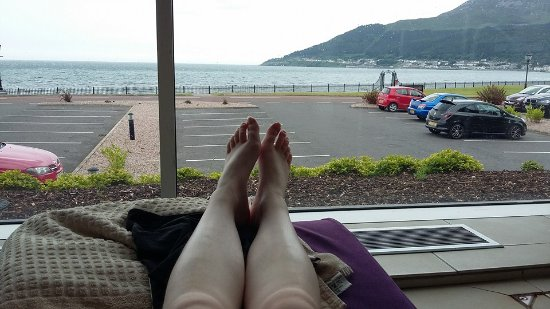 View From Swimming Pool Lounger Picture Of Slieve Donard Resort And Spa Newcastle Tripadvisor