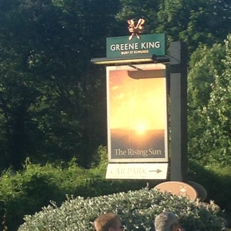 Cleeve Hill, UK: Hotel sign board