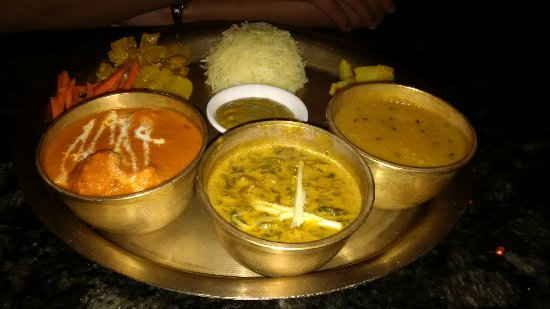 The Himalayan : Cottage Cheese Dal Bhat