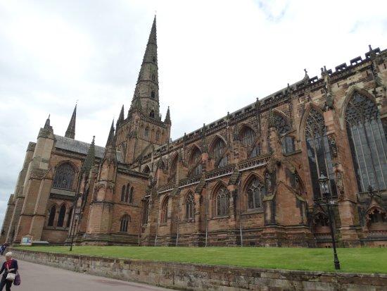 Lichfield Cathedral: Just around the corner.................