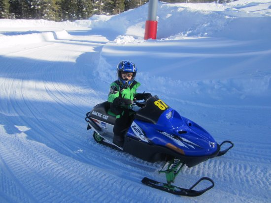 Fun on the kid snowmobiles - Picture of Adventure Ridge, Vail