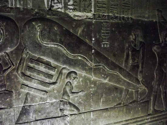 Qena, Egypt: Temple of Hathor Crypt at Dendera Temple Complex