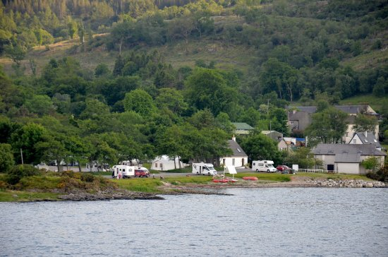 Craignure, UK: Campsite from ferry.
