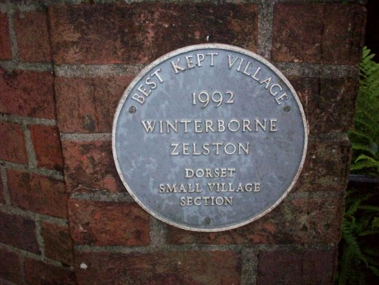 Winterborne Zelston, UK: Village Plaque