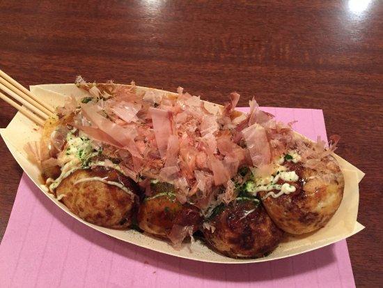 takoyaki with bonito flakes