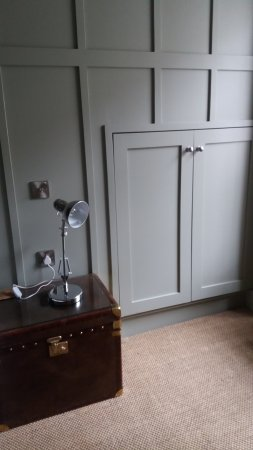 The Edgar Townhouse: Cupboard used as wardrobe and bedside chest, stylish but no storage facility