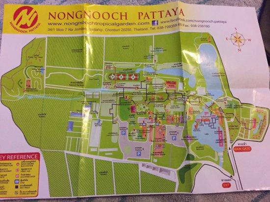 Nong Nooch Tropical Botanical Garden: Nong Nooch Map