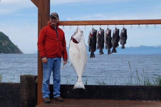 Larsen Bay, AK: Halibut and Black bass