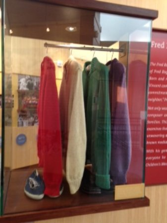 Mr Rogers Sweaters Made By His Mother Picture Of Fred Rogers Exhibit Latrobe Tripadvisor