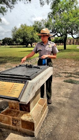San Antonio Missions National Historical Park: A US Park Ranger provides and excellent interpretive history of Mission San Jose