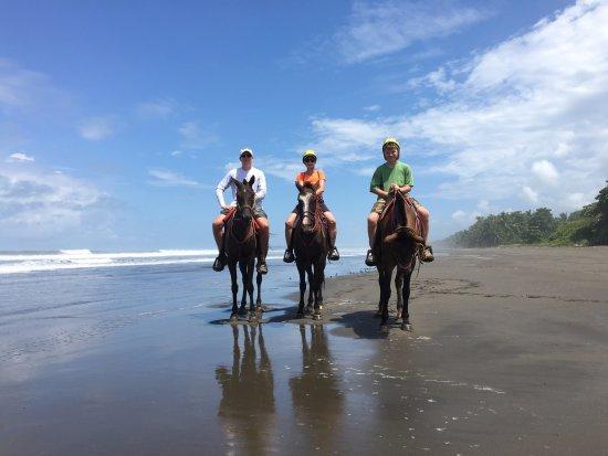 Riding on the beach in Esterillos Este